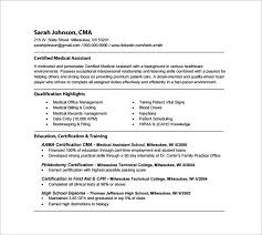 Registered Medical Assistant Resume PDF Template