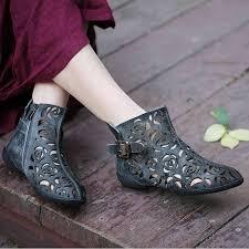 <b>2019 VALLU</b> Cool Boots Shoes <b>Woman</b> Genuine Leather Hollow ...