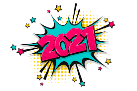2021 Happy New Year Christmas Comic Text Graphic By Kapitosh Creative Fabrica