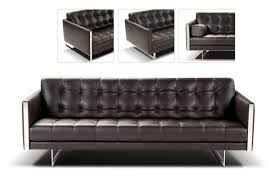 delightful modern leather couches   roslyn grey m hr