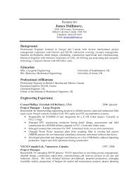 Oil gas resume samples