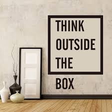 outside the box office. Think Outside The Box Quote Wall Sticker Office Inspirational Motivational Decal Living Room Cut R