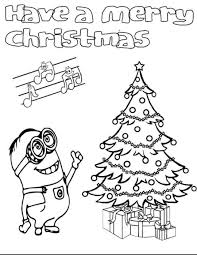 Kleurplaat Minions Kerst Crafts Christmas Coloring Pages