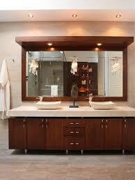 bathroom recessed lighting ideas espresso. look as hgtv displays a sleek modern bathroom vanity with matching vessel sinks and marble countertops the dark wood cabinet doors provide contrast recessed lighting ideas espresso e