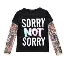 модные футболки для мальчиков и девочек осень с длинным рукавом хип хоп стиль