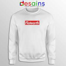 Sweatshirt Supreme Flat Earth Crewneck Supreme Logo Size S 3xl