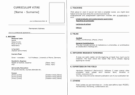 Resume Outline Word Inspirational General Resume Template Free Best