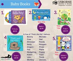 we have baby books starting for newborns and going till they turn into toddlers