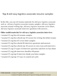 Top 8 old navy logistics associate resume samples In this file, you can ref  resume ...
