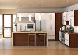 ... Amazing White Square Modern Steel Home Depot Kitchen Cabinets Stained  Design: Captivating Home ...