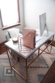 office space desk. office space rose gold marble desk diy wayfair hack via