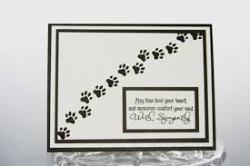 Card For Loss Of Pet Pet Sympathy Card Pawprints Loss Of Pet Card Sorry For Your Etsy
