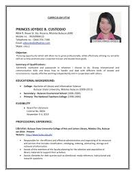 Sample Resume Format For Job Application Svoboda2 Com Of A Samples Pdf With  Rega
