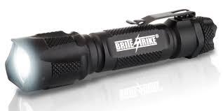 Police Tactical Light 450 Lumen Tactical Blue Dot Flashlight 2 Cell Hi Lo Strobe