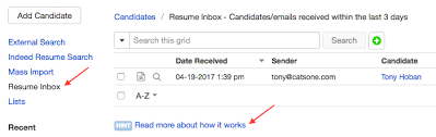 Emailing Your Resumes Using Resume Inbox Cats Knowledge Base