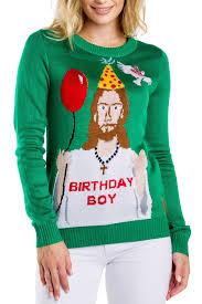 Women's Jesus is the Birthday <b>Boy Christmas Sweater</b> | Tipsy Elves