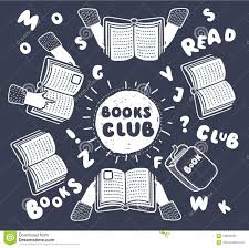 vector cartoon ilration of reading club open books in human hands and letters on table with hands top view vector ilration funny outline