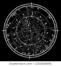 Astrological Celestial Map Stock Illustrations Images