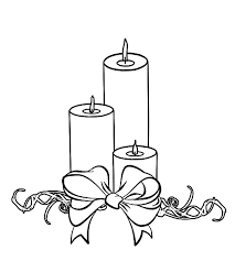 Small Picture Three Christmas Candle Wrapped with Bow Coloring Pages Three