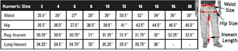 Women S 5 11 Tactical Pants Size Chart 5 11 Womens Rip Tdu Pants Tactical Solutions Nz