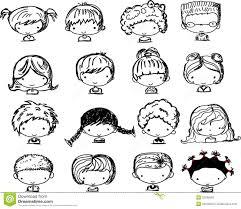 Visages De Dessin Anim Des Enfants Vecteur Illustration De