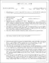 Simple Lease Agreement Word Doc Template Basic Residential South ...