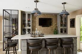 Home Basement Designs Cool Basement Bar Transitional Home Bar Minneapolis By RHouse
