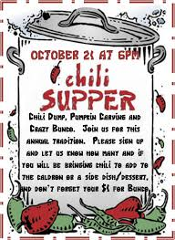 chili supper flyer lutheran church of the resurrection oak forest events