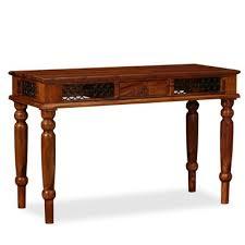 vidaXL 120 x 50 x 76cm <b>Solid Sheesham</b> Wood <b>Writing Table</b> ...