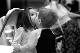 mood, children, girl, boy, kiss, black ...