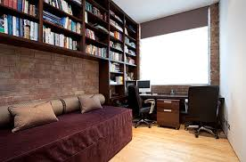 view in gallery modern home office with rich tones guest room decorating ideas for a dual purpose space bedroom sweat modern bed home office room
