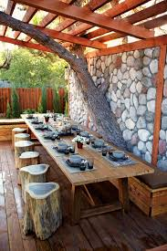 12 Awesome Outdoor Dining Ideas. Backyard natural Dining Room