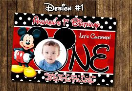 mickey mouse clubhouse 1st birthday invitations with birthday invitation designs for your invitation design 13 full