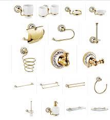 Набор аксессуаров для ванной комнаты Fixsen Bogema <b>Gold</b>