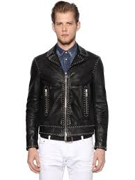 dsquared2 studded leather jacket black otaw0 men clothing dsquared dresses retail s