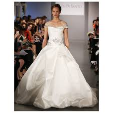 off shoulder magnificent bateau neckline beaded taffeta wedding