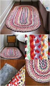 Braided T-Shirt Rug - 30 Magnificent DIY Rugs to Brighten up Your Home