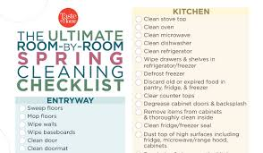 The Ultimate Room By Room Spring Cleaning Checklist Plus
