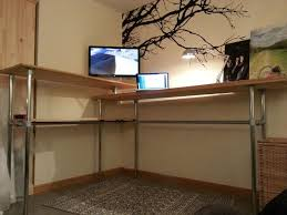 diy standing desk pipe. Beautiful Standing Gabe Diaz Industrial Standing Desk Diy Desk Pipe Furniture  Office Guest Throughout D