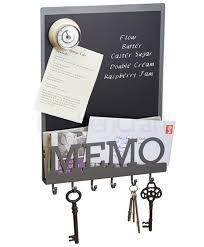 Memo Board With Hooks Vintage Magnetic Memo Board Key Hooks Letter Holder Broadoak 1