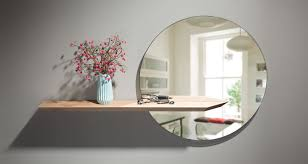 Circular Floating Shelves Simple Hall Mirror Round Mirror Living Room Furniture Circular Mirror