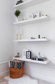 when you have a small bedroom adding shelves is a clever way to add more