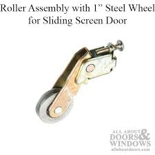 roller assembly with 1 inch steel wheel for sliding screen door