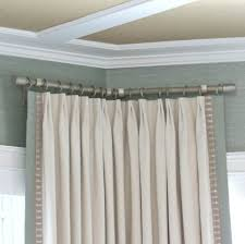 bay window curtain rod target rods windows bed bath and beyond installation