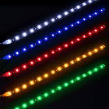 How To Install Flex Led Lights In Car 1pcs Waterproof Auto Car Decorative Flexible Led Strip 12v 15smd 30cm Car Led Daytime Running Light Car Led Strip Light