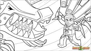 Printable Coloring Page For Lego Ninjago Zane And His Ice Dragon