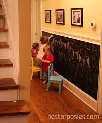 diy chalkboard wall for busy kids