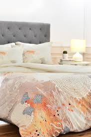 image of deny designs white velvet duvet set