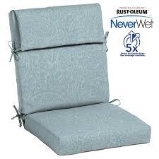 allen roth neverwet 1 piece spa blue kensley high back patio chair cushion