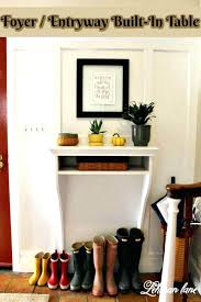 entry way table foyer entryway built in table round entry tables for